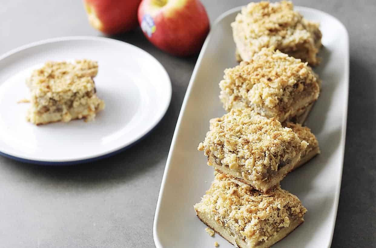 Apple crumble slice recipe